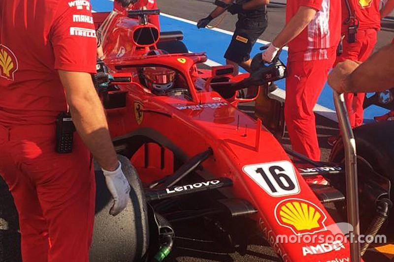 ルクレール、移籍発表後初のフェラーリでのテスト完了。129周を走行