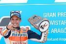 Marquez doet goede WK-zaken met winst in Aragon, Rossi vijfde