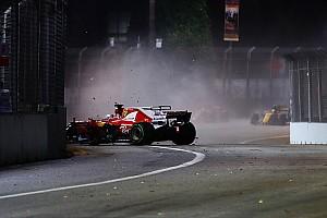 Formel 1 Reaktion Sebastian Vettel nach F1-Crash in Singapur: