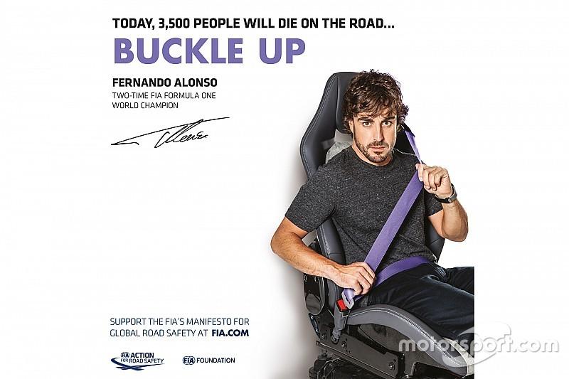 Versenyzőkkel és hírességekkel zajlik az FIA közúti kampánya