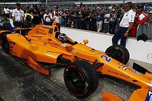 IndyCar BRÉKING Alonso nagy arc -