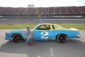 NASCAR Cup Breaking news Dale Jr. drives his father's old car around Talladega Superspeedway