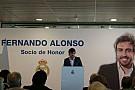 """Alonso recebe título de """"sócio de honra"""" do Real Madrid"""