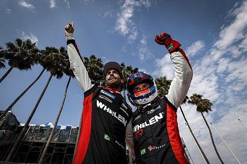 IMSA: Pipo Derani e Felipe Nasr vencem a terceira do ano em Long Beach e vão para a final na briga pelo título
