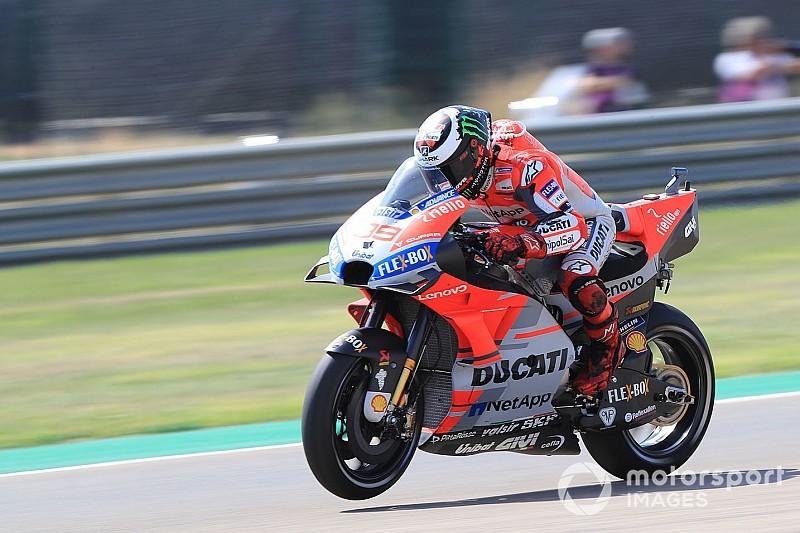 FP4 MotoGP Aragon: Lorenzo pimpin sesi, Marquez tersungkur
