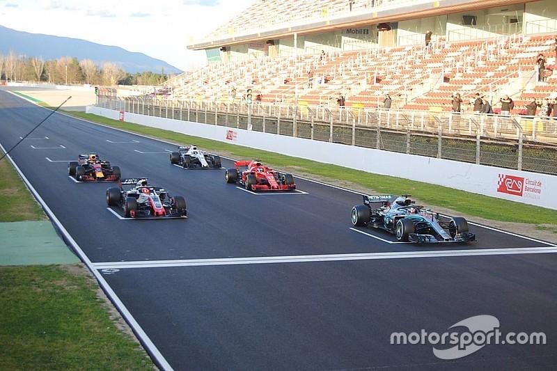 FIA trials F1 standing restart system in Barcelona
