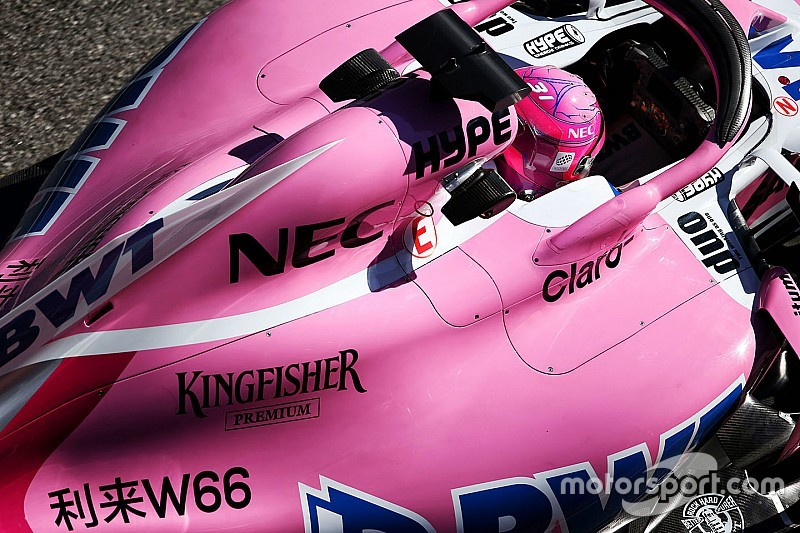 GALERI: Aksi mobil Force India VJM11 di tes F1 Barcelona