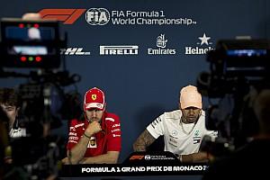 Formel 1 News PK-Scherz zwischen Hamilton und Vettel: Bald Teamkollegen?