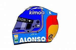 Алонсо радикально змінив розфарбування шолома