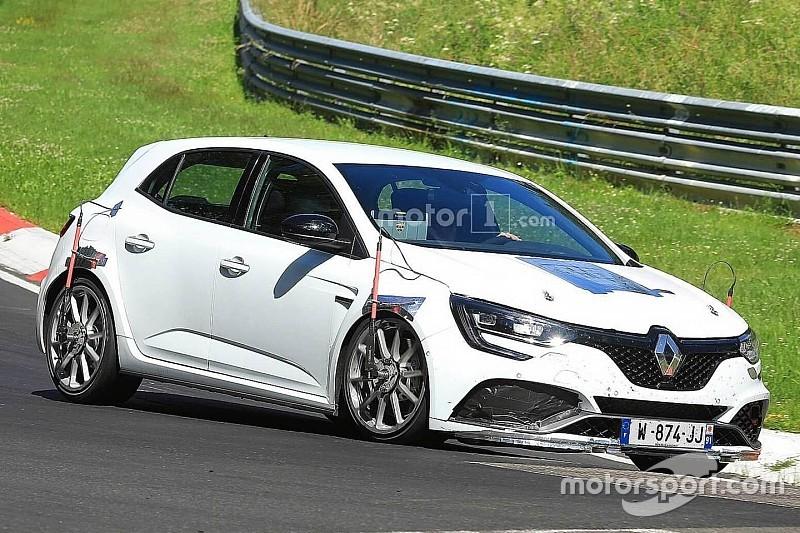 Renault Megane RS Trophy spied performance testing At Nurburgring