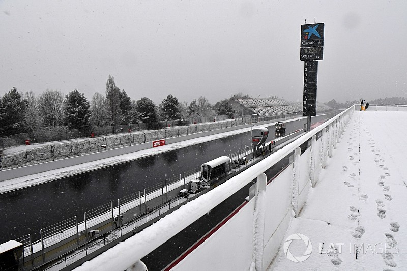 Day 3 of Barcelona F1 testing delayed by snow
