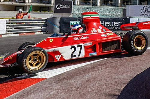 Alesi taken out at Monaco Historic GP while leading in Ferrari