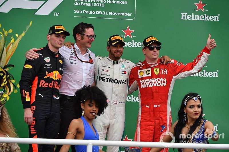 Гран Прі Бразилії: Окон вибив Ферстаппена та подарував перемогу Хемілтону