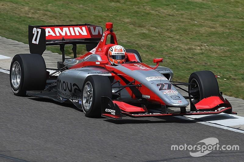 Jamin y Franzoni lideran el test de Road to Indy en el Brickyard