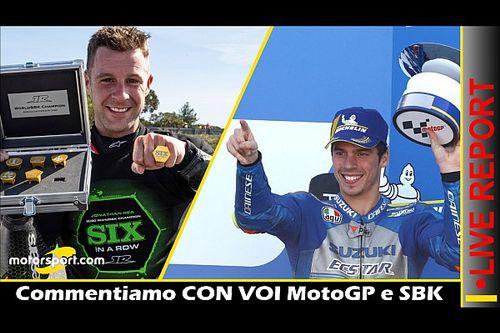 Report LIVE: commentiamo CON VOI MotoGP, F1 e SBK