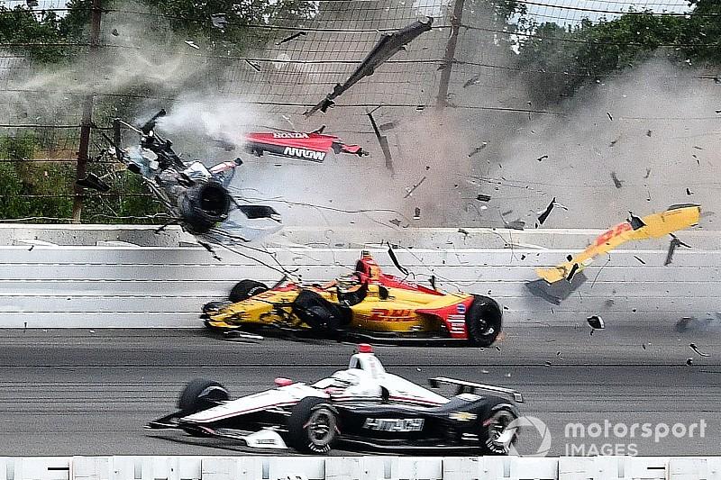 Страшная авария Уикенса в IndyCar: кадр за кадром