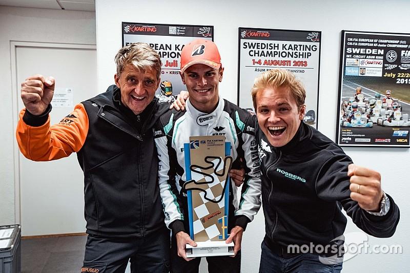 Rosberg wins karting world title as team owner