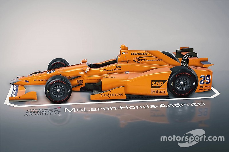 تعرّف على سيارة فرناندو ألونسو لسباق إندي 500 بالأبعاد الثلاثيّة