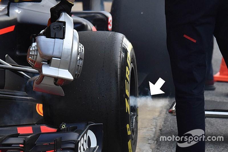 F1'deki şişik aksın çalışması görüntülendi