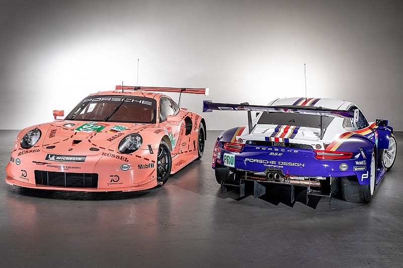Porsche in Le Mans 2018 auf Vintage-Trip: Blau oder Sau?