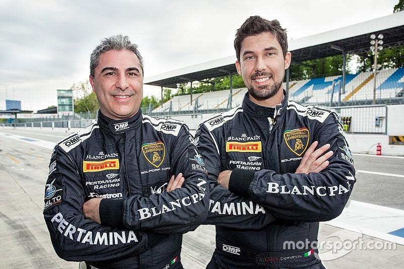 Demarchi e Benvenuti sulla Gallardo della Imperiale Racing