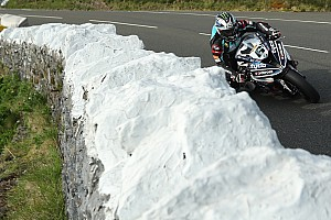 Road racing Qualifying report Isle of Man TT: Dunlop leads drone-interrupted Superbike practice