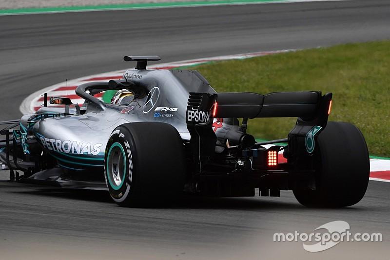 Mobil F1 2019 akan dipasangi lampu di sayap belakang