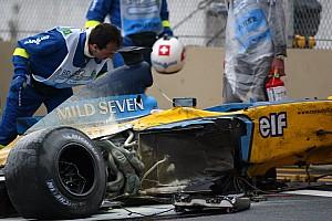 F1 Nostalgia GALERÍA: el accidente de Alonso en Interlagos que lo envió al hospital