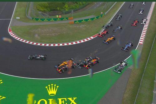 Vídeo: Bottas provoca un accidente múltiple que arruina a Verstappen