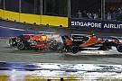 سائقا فيراري وفيرشتابن يواجهون تحقيقًا بعد حادثة الانطلاقة في سنغافورة