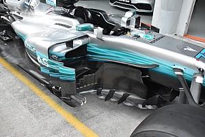 Forma-1 Elemzés Még tovább bonyolódik a Mercedes oldalsó légterelőinek kialakítása