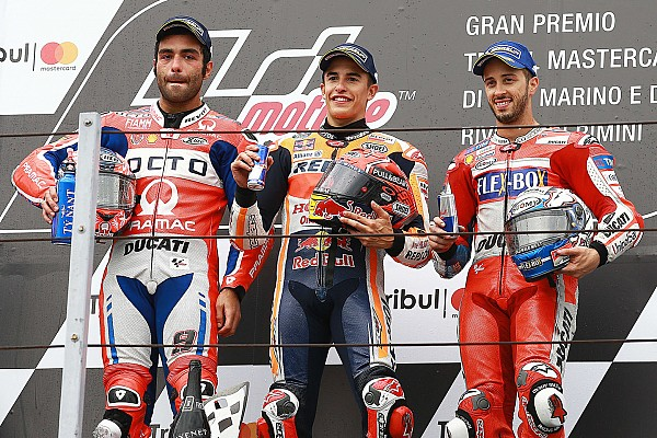 Misano MotoGP: Yağmurlu yarışı Marquez kazandı, Petrucci kariyerinin ilk zaferini kaçırdı!