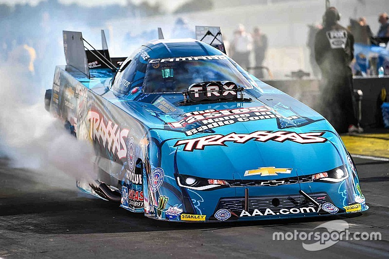 c force wins funny car portion of nhra traxxas nitro shootout