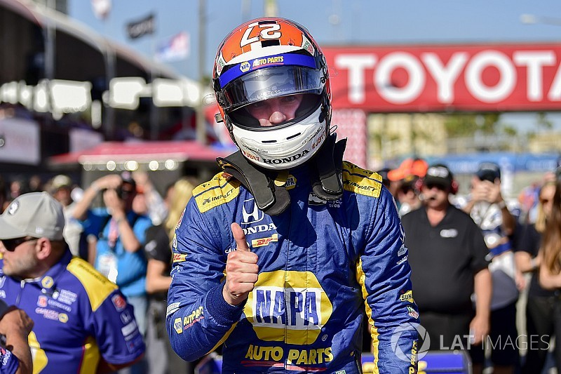 Long Beach IndyCar: Brilliant Rossi beats the Penskes to pole