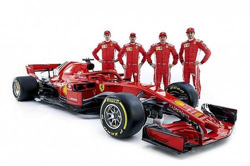 Ferrari: alla presentazione della SF71H c'erano anche Giovinazzi e Kvyat