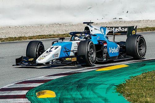 F2: el debutante Verschoor lidera el segundo día de test en Barcelona