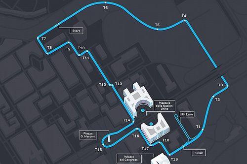 Formula E: svelato il nuovo tracciato dell'E-Prix di Roma