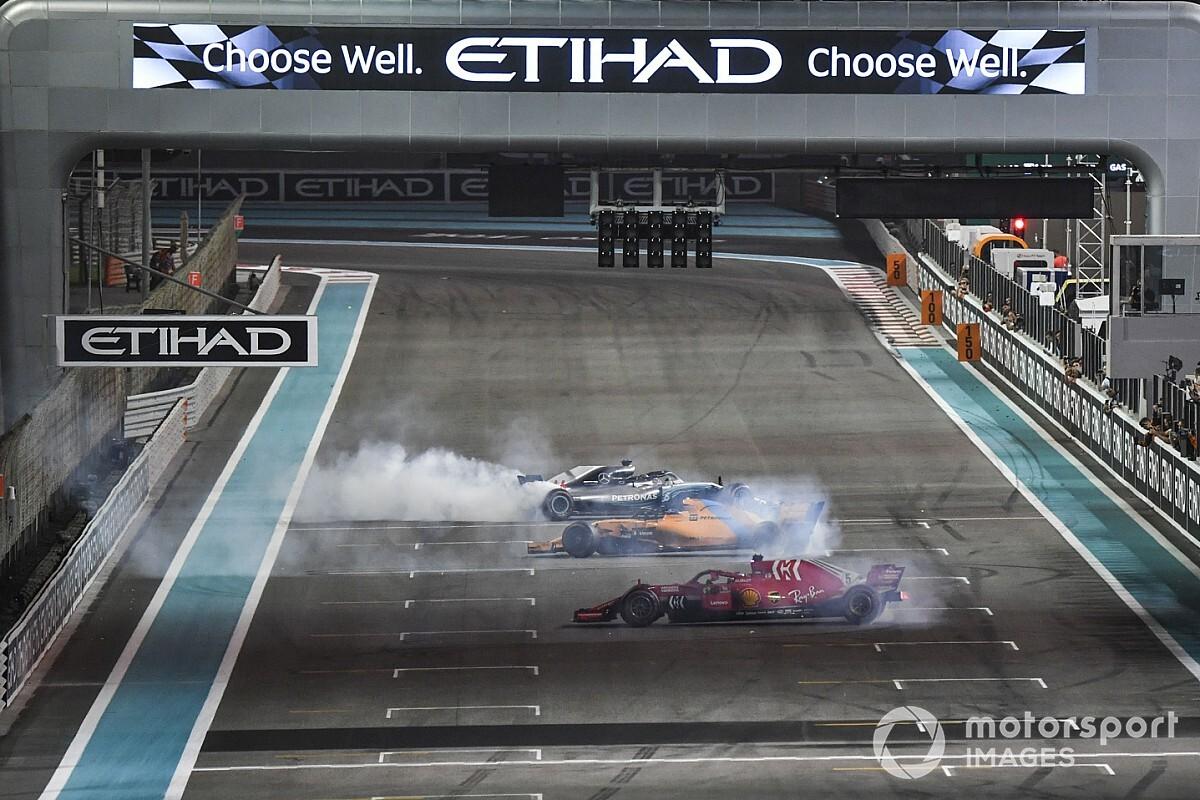 Fotogallery: il tributo di Hamilton e Vettel all'addio di Alonso alla F1