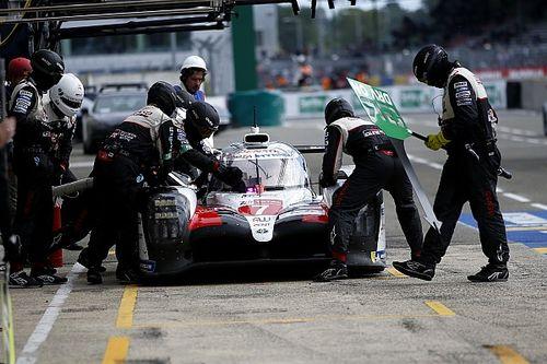 Toyota explica por qué no cambio las cuatro llantas del #7