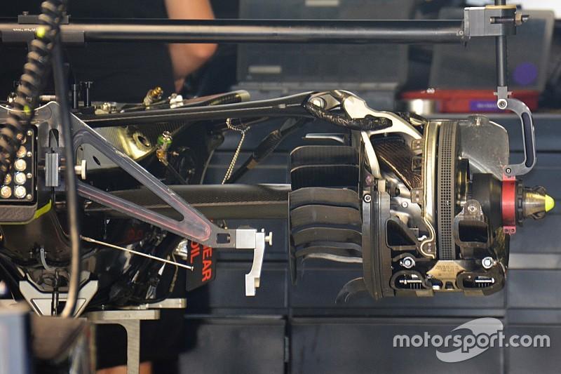 Технический брифинг: задняя подвеска Mercedes W07