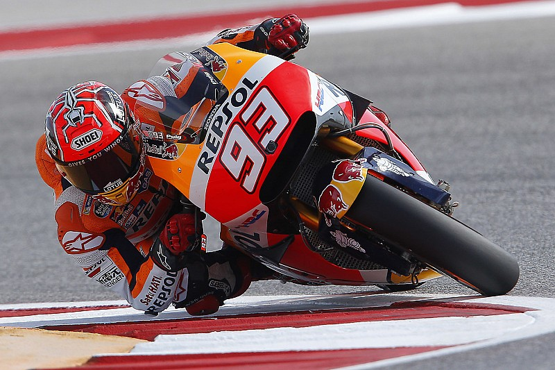Austin MotoGP: Marquez crashes but stays on top in FP2