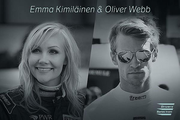 Oliver Webb ed Emma Kimiläinen fra le Tesla da corsa