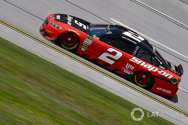 Brad Keselowski wins Stage 1 at Talladega over Logano