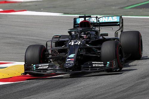 Hamilton snelste man in tweede training Spaanse GP, Verstappen P3