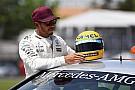 【F1】セナのヘルメットにハミルトン感激「全てを超越する特別なもの」