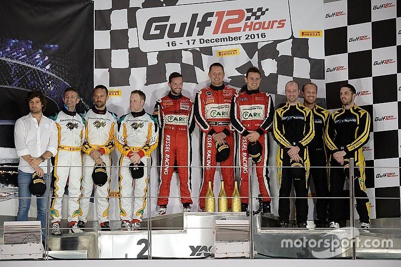 """فريق """"كيسيل ريسينغ"""" يحرز الفوز في سباق الخليج 12 ساعة"""