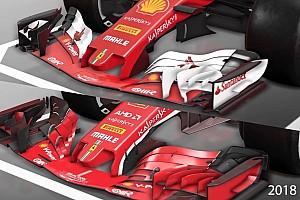 Fórmula 1 Análisis VIDEO: cómo el Ferrari F1 2018 se diferencia de su predecesor