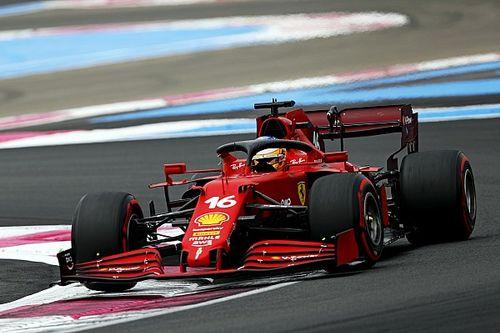 Leclerc, aracın ön tarafında sorun yaşadığı için geride kalmış
