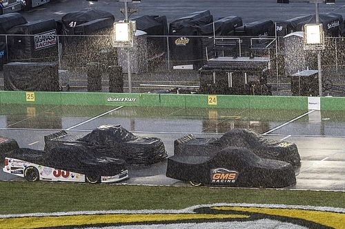 Sheldon Creed wins rain-shortened Truck race at Kentucky