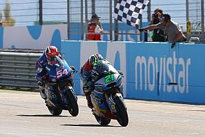 Moto2 Reporte de la carrera Morbidelli respira gracias al triunfo en Motorland
